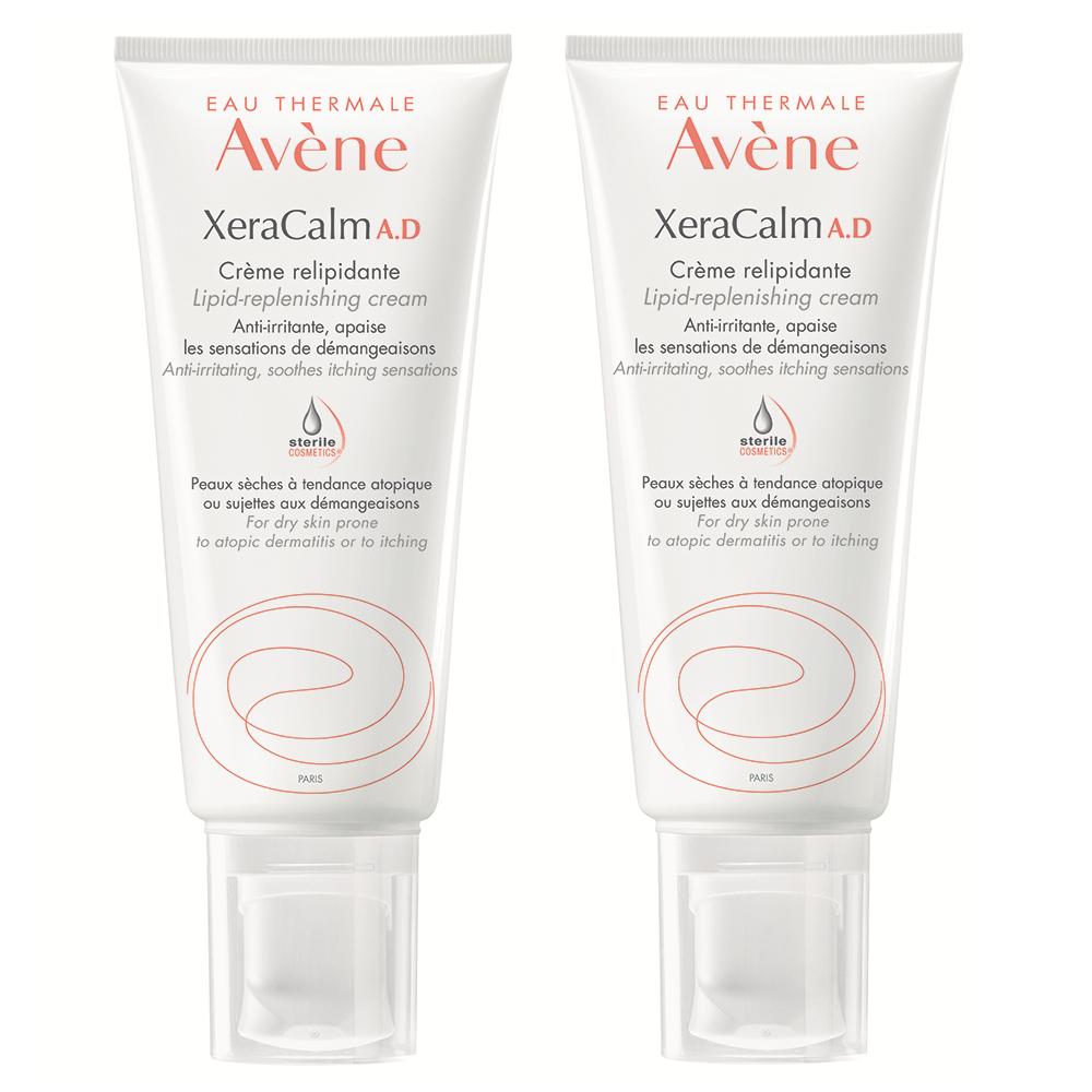Pachet Cremă relipidantă pentru pielea uscată predispusă la dermatită atopică sau prurit XeraCalm AD, 200 ml, Avene