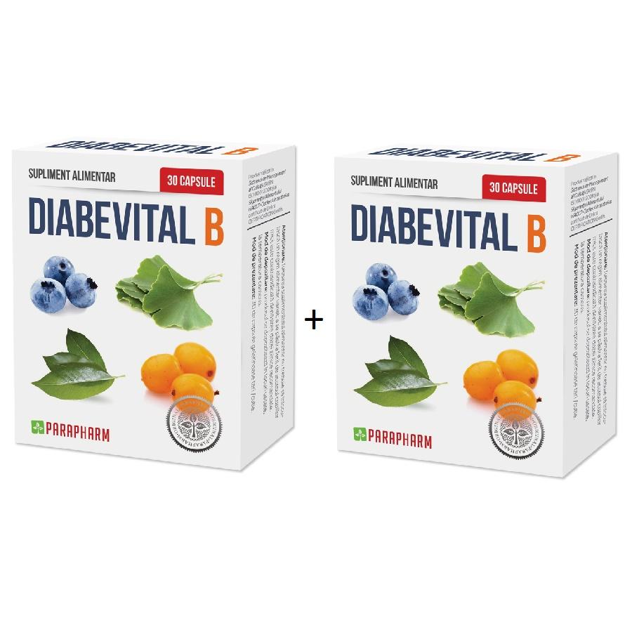 Pachet Diabevital B, 30+30 capsule (1+1), Parapharm