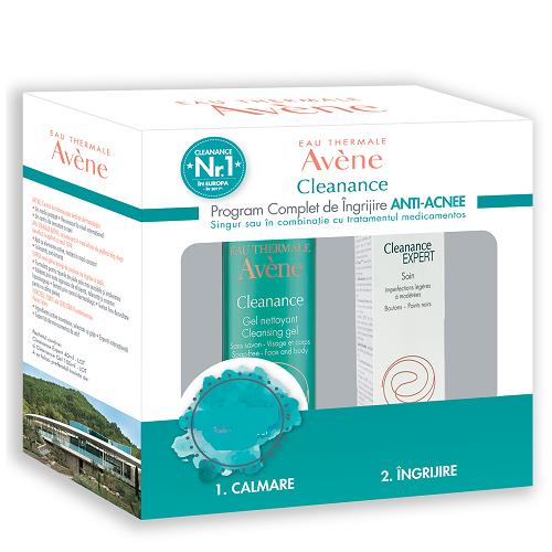 Pachet Emulsie imperfecțiuni Cleanance Expert, 40 ml + Gel de curățare Cleanance, 100 ml, Avene