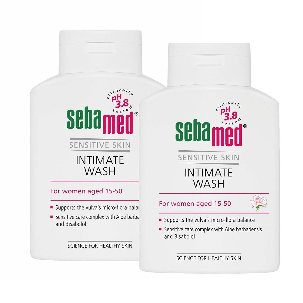 Pachet Gel dermatologic pentru igiena intimă feminină pH 3.8, 200 ml (1+1), Sebamed