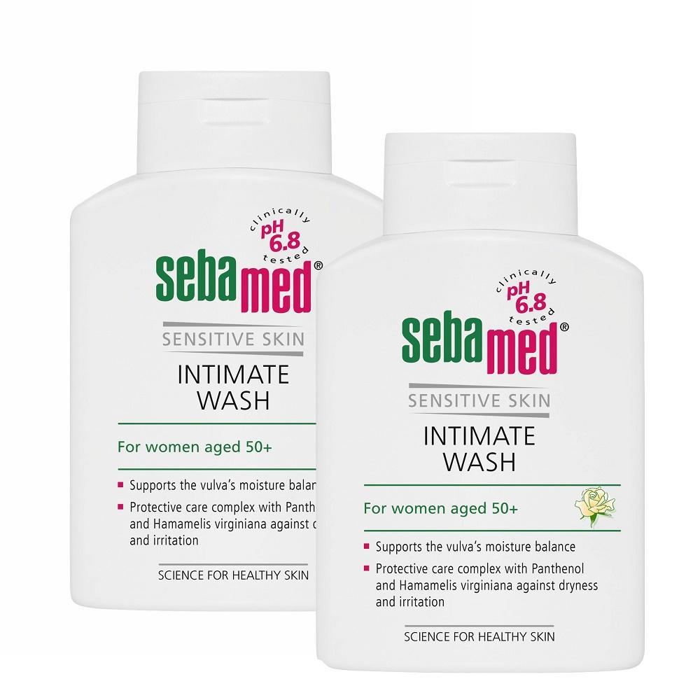 Pachet Gel dermatologic pentru igiena intimă feminină pH 6,8, 200 ml (1+1), Sebamed