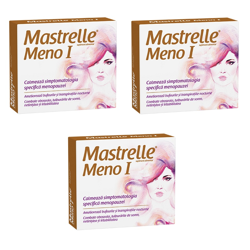 Pachet Mastrelle Meno I (3 la preț de 2), 30 capsule, Fiterman Pharma