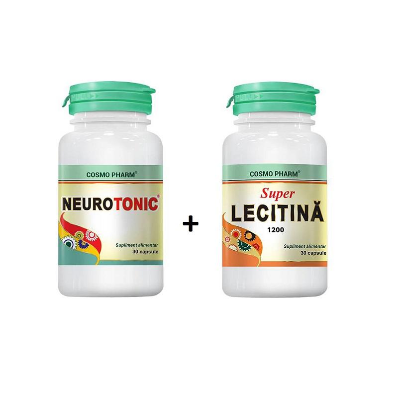 Neurotonic, 30 capsule + Superlecitină, 30 capsule, Cosmopharm