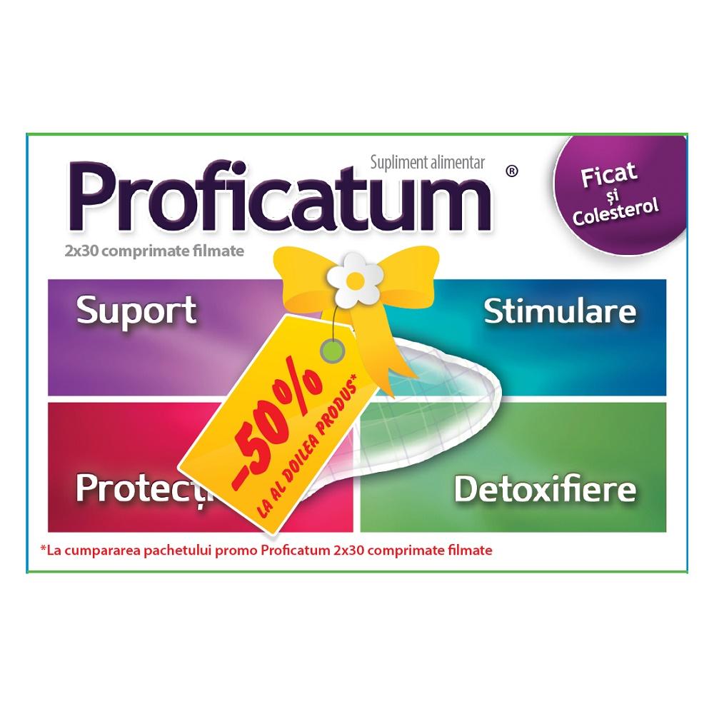 Pachet Proficatum, 30 comprimate filmate + 50% reducere la al doilea produs, Aflofarm