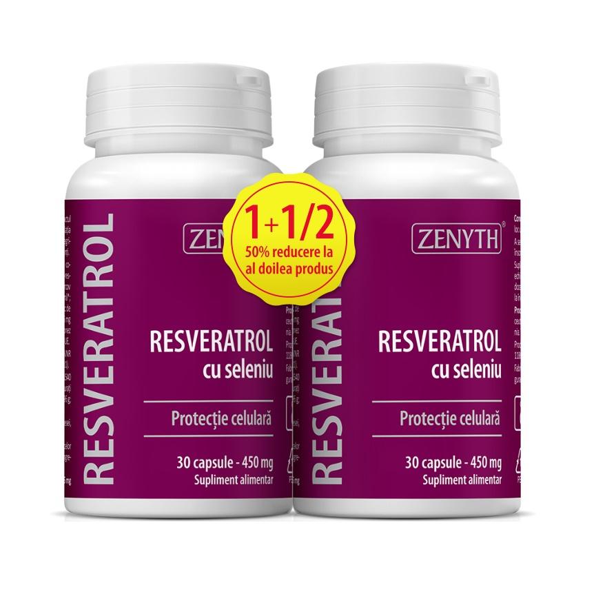 Pachet Resveratrol cu seleniu, 30+30 capsule, Zenyth