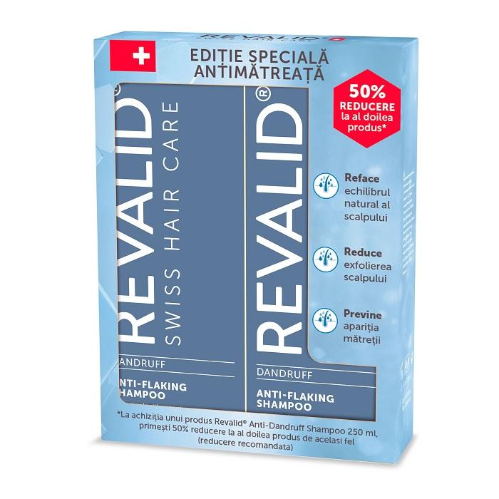 Pachet Șampon anti-mătreață Revalid, 250 ml + 250 ml, Ewopharma (50% la al doilea produs)