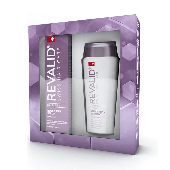 Pachet Ser contra căderii părului Revalid, 50 ml + Șampon stimulator Revalid, 75 ml, Ewopharma