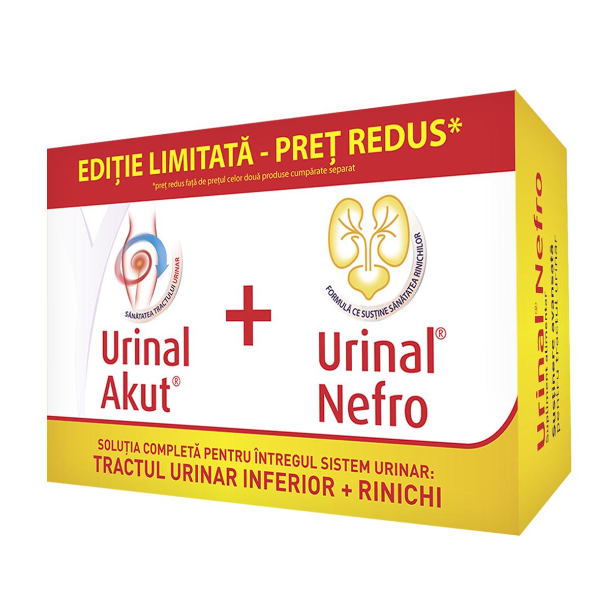 Pachet Urinal Akut 10 tablete + Urinal Nefro 20 tablete, Walmark