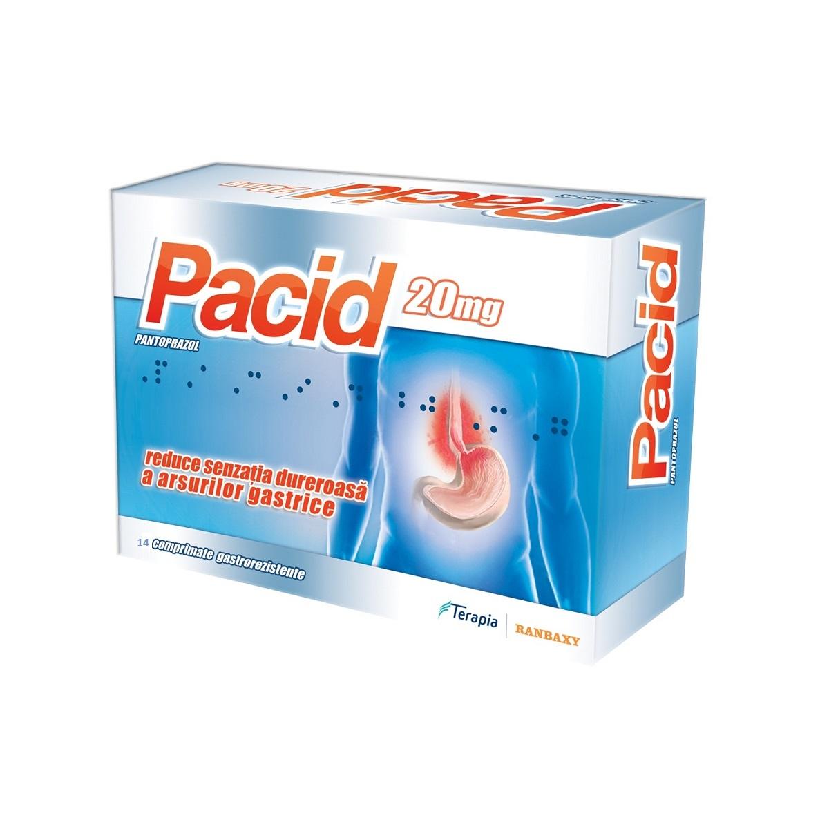 Pacid 20mg, 14 comprimate, Terapia