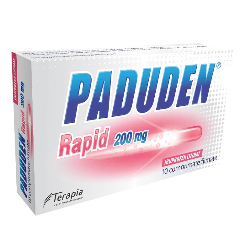 Paduden Rapid 200mg, 10 comprimate, Terapia