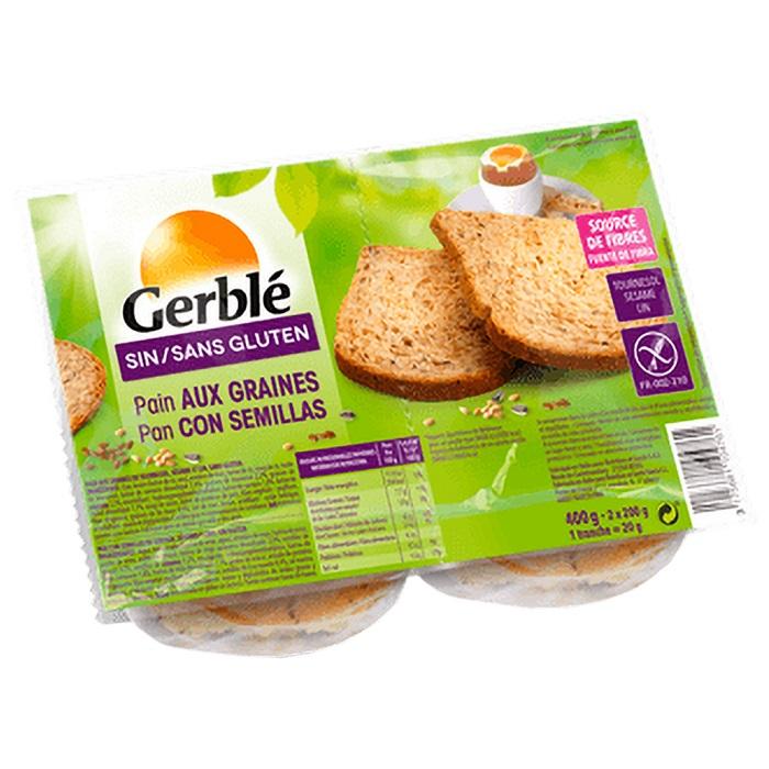 Paine fara gluten cu seminte, 400 g, Gerble