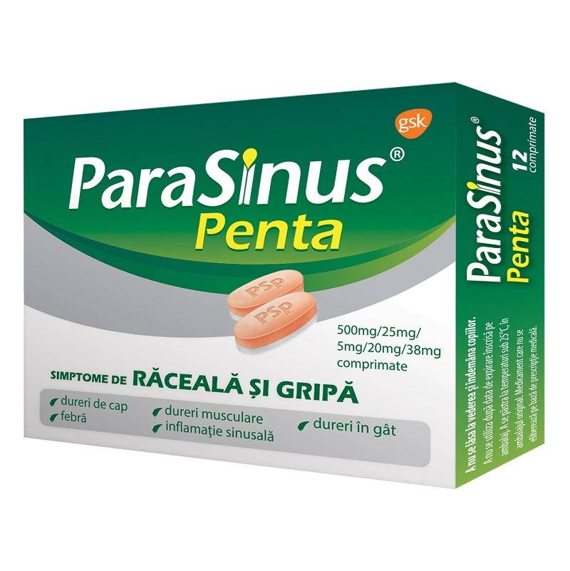Parasinus Penta, 12 comprimate, Gsk