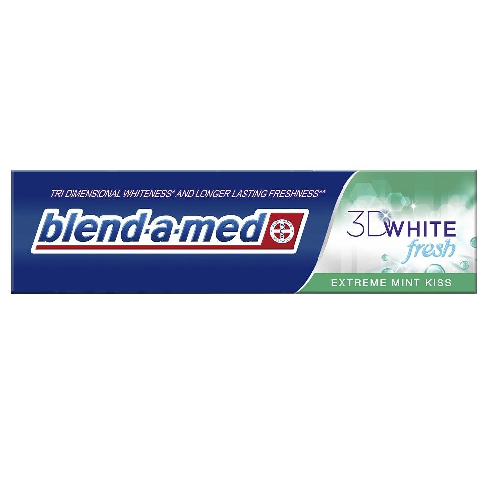 Pastă de dinți 3D White Fresh Extreme Mint Kiss Blend-a-med, 100 ml, P&G
