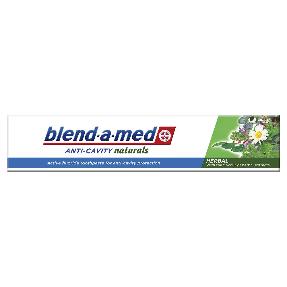 Pastă de dinți Anti-Cavity Naturals Herbal Blend-a-med, 50 ml, P&G