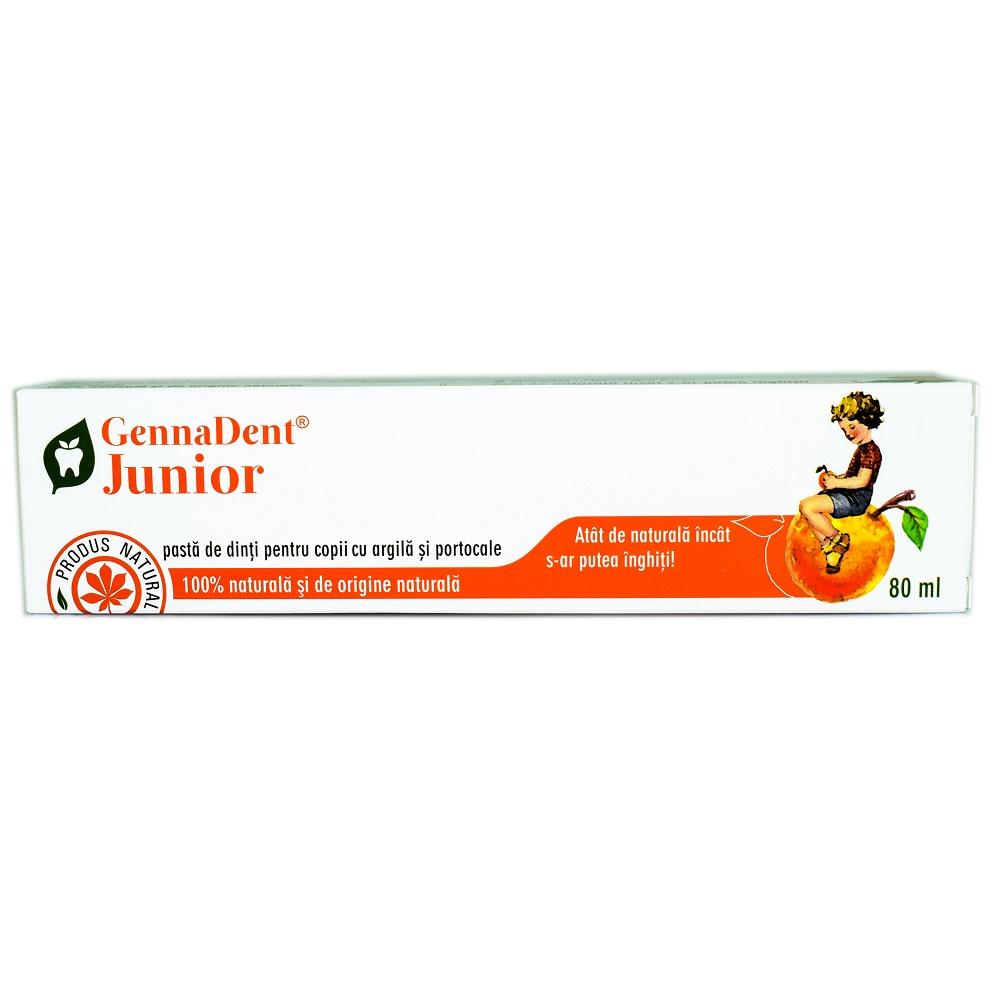 Pasta de dinti cu portocale GennaDent Junior, 80 ml, Vivanatura