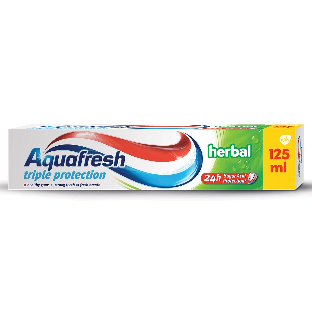 Pastă de dinți Herbal Aquafresh, 125 ml, Gsk