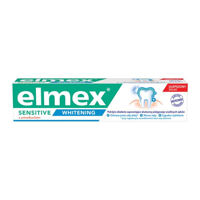 Pastă de dinți pentru albire Sensitive Whitening, 75 ml, Elmex