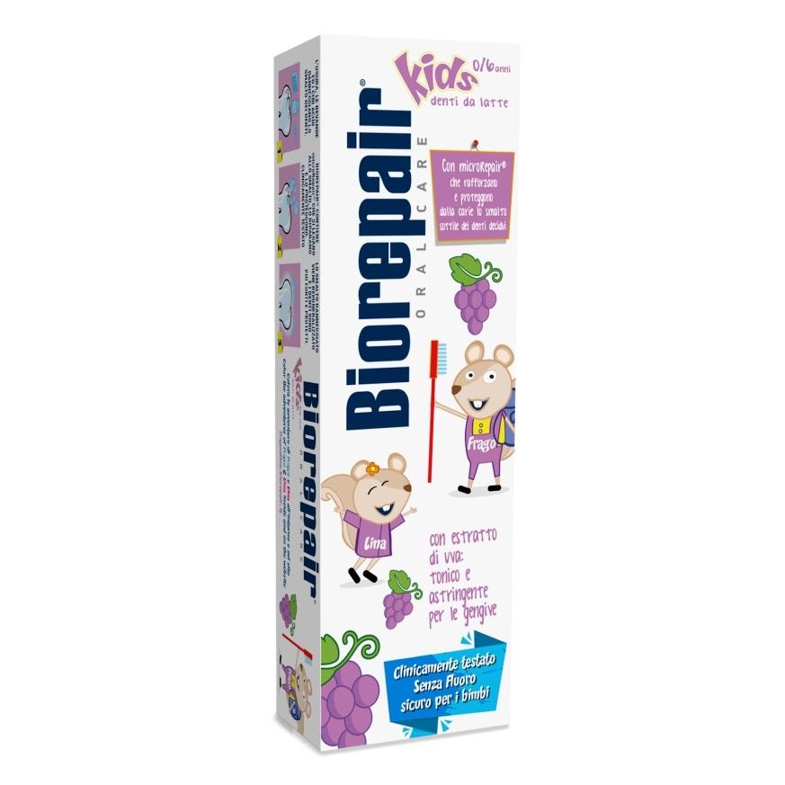 Pasta de dinti pentru copii cu extract de strugure Biorepair Kids 0-6 ani, 50 ml, Coswell