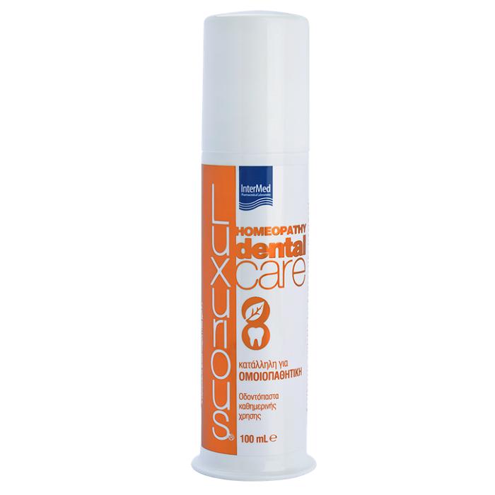 Pastă de dinți pentru tratamente homeopatice Luxurious Dental Care Homeopathy, 100 ml, Intermed