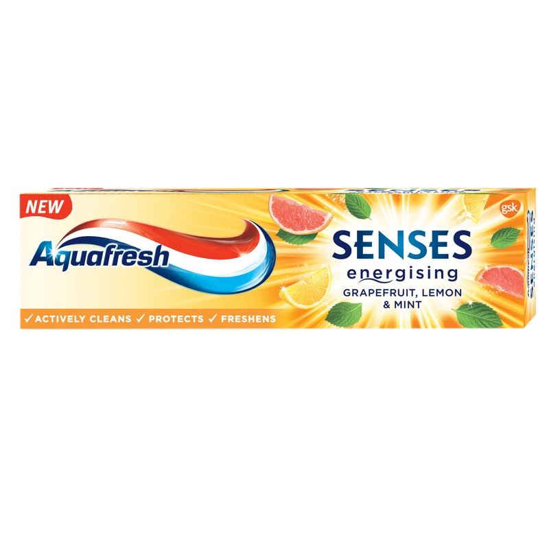 Pasta de dinti Senses Grapefruit Aquafresh, 75 ml, Gsk