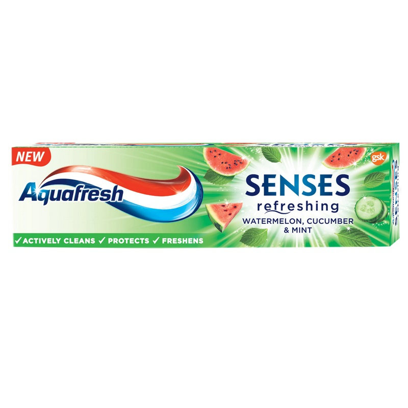 Pasta de dinti Senses Watermelon Aquafresh, 75 ml, Gsk