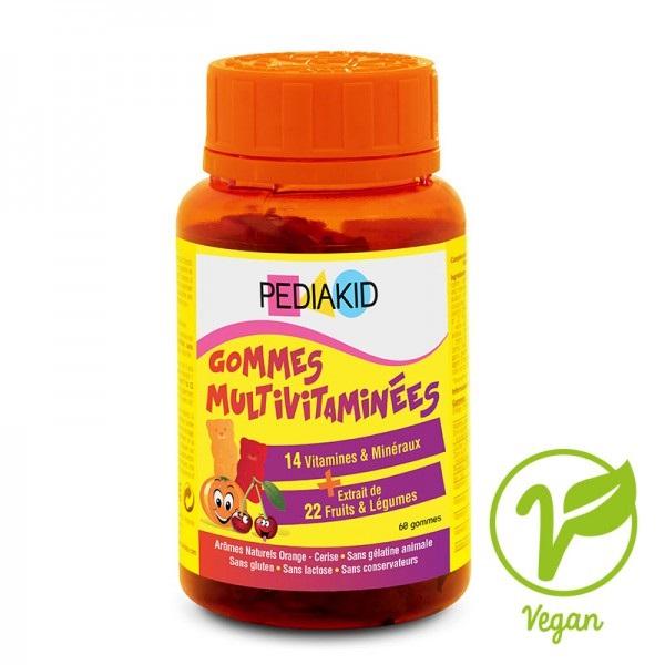 Ursuleți gumați cu vitamine și minerale, 60 ursuleți, Pediakid