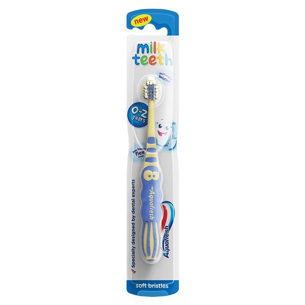 Periuta de dinti pentru copii Milk Teeth 0-2 ani, Soft, Aquafresh