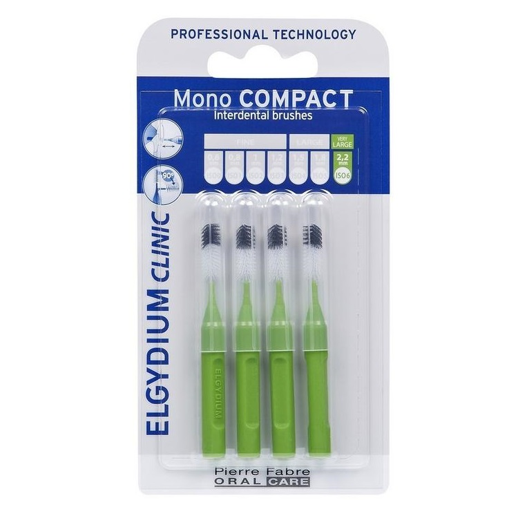 Periute interdentare Mono Compact Green, 4 bucati, Elgydium