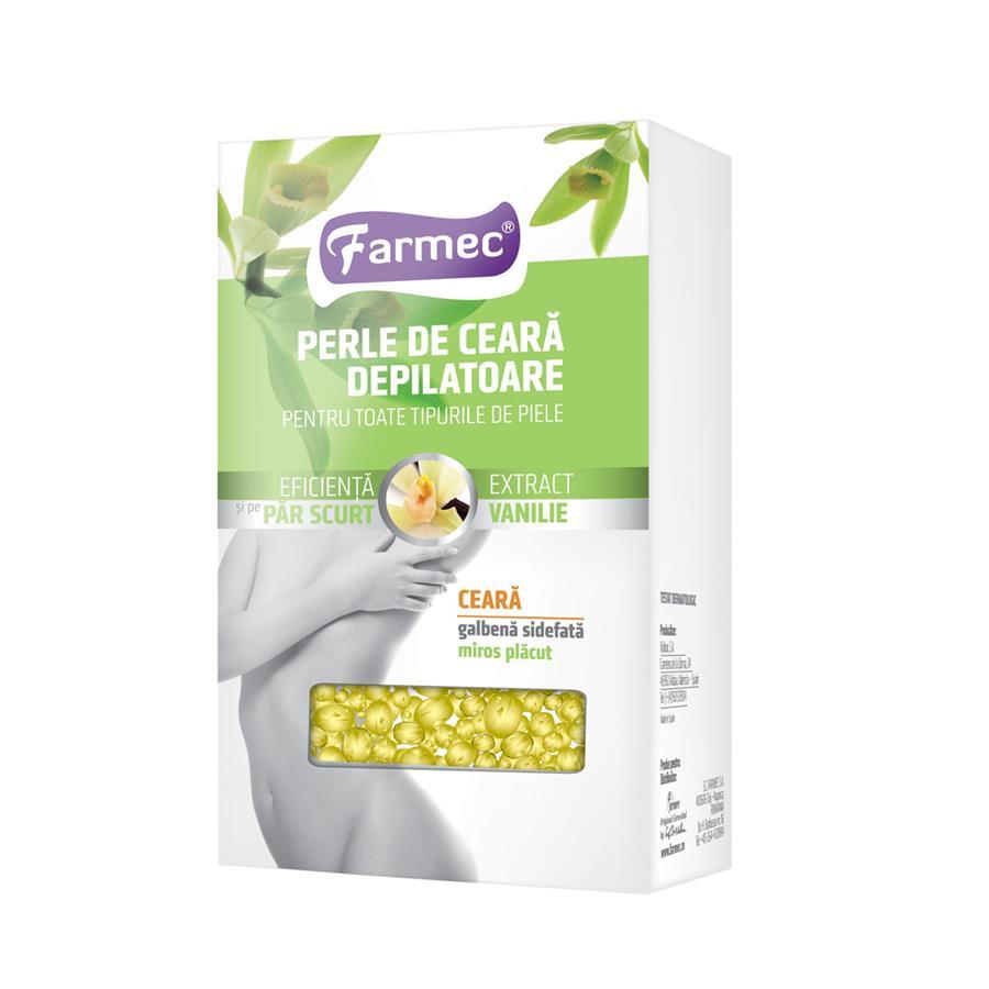 Perle de ceară depilatoare cu extract de vanilie, 250 g, Farmec