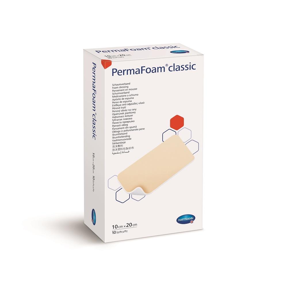 PermaFoam Classic 10cm x 20cm, 10 bucati, Hartmann