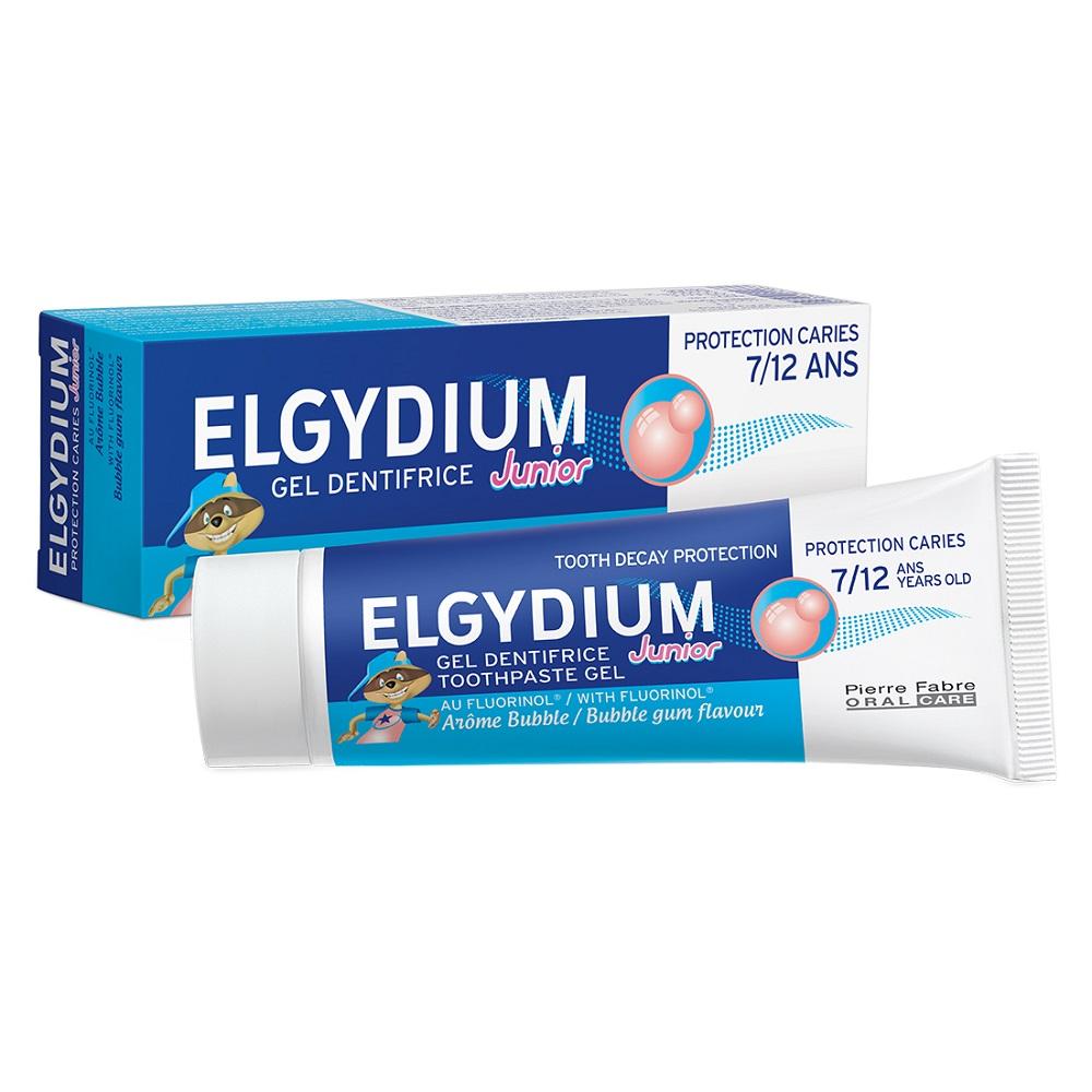 Pastă de dinți pentru copii Bubble, 7-12 ani, 50 ml, Elgydium Junior