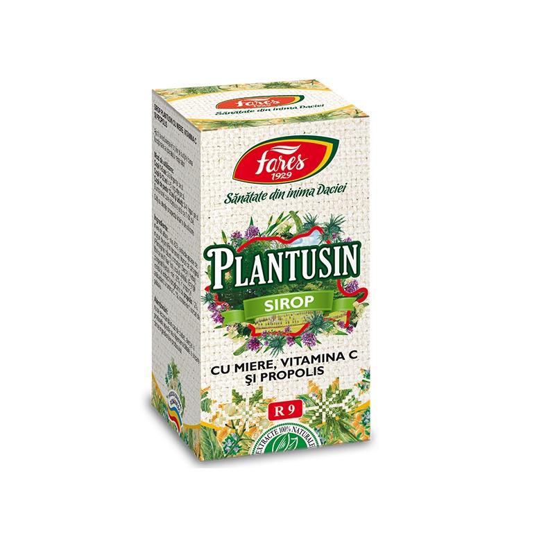 Plantusin sirop cu miere și Vitamina C + propolis, R9, 100 ml, Fares