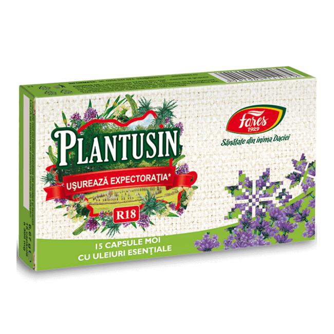 Plantusin Usureaza Expectoratia R18, 15 capsule, Fares