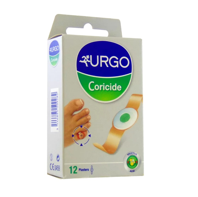 Plasturi adezivi pentru bătături Corcide, 12 bucăți, Urgo