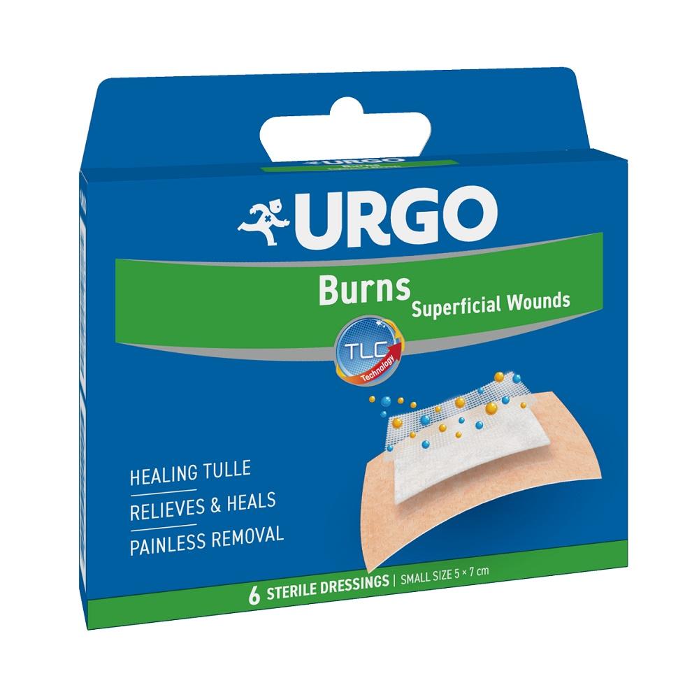 Plasturi mici pentru arsuri și răni superficiale, 6 bucăți, Urgo