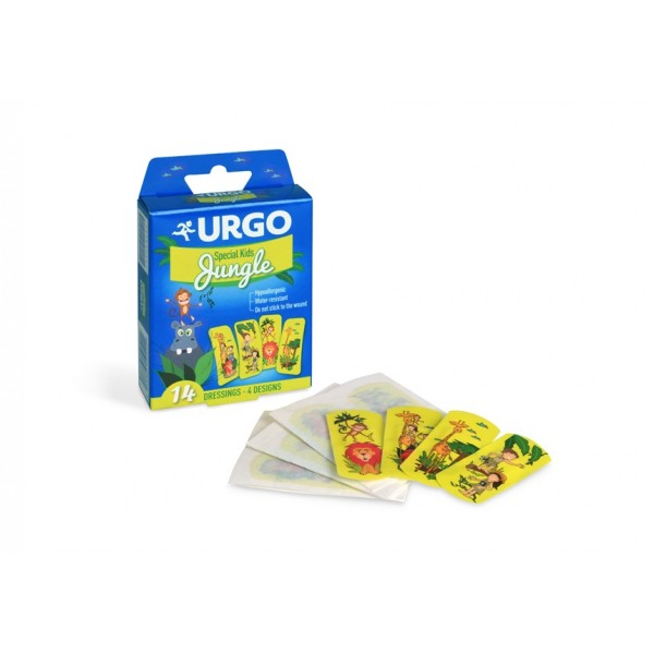 Plasturi pentru copii Jungle, 14 bucăți, Urgo