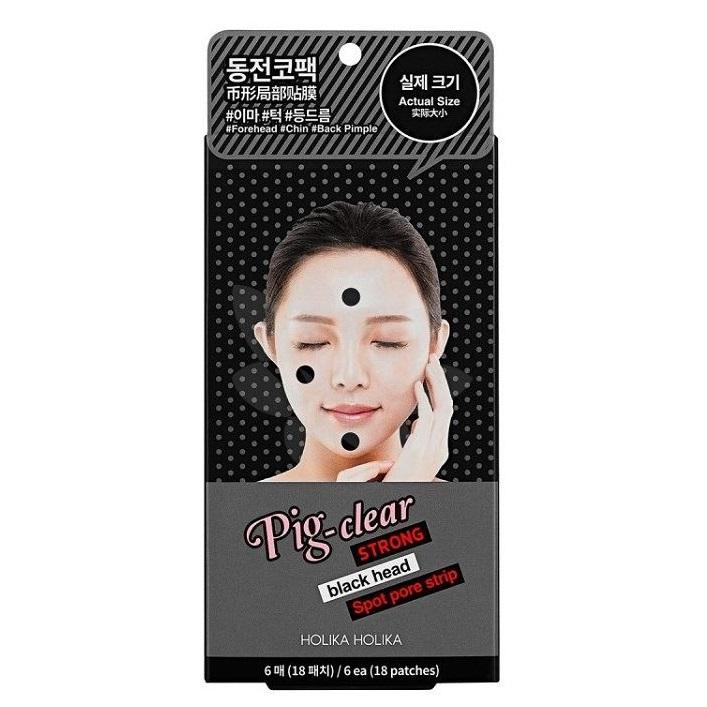 Plasturi pentru curatarea porilor Pig Nose, 6 bucati, Holika Holika