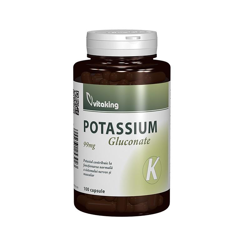 Potassium 99 mg, 100 capsule, VitaKing
