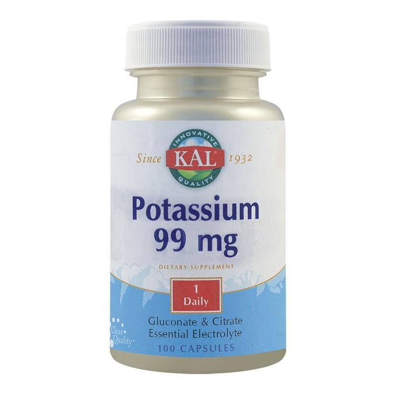 Potasiu 99 mg Kal, 100 capsule, Secom