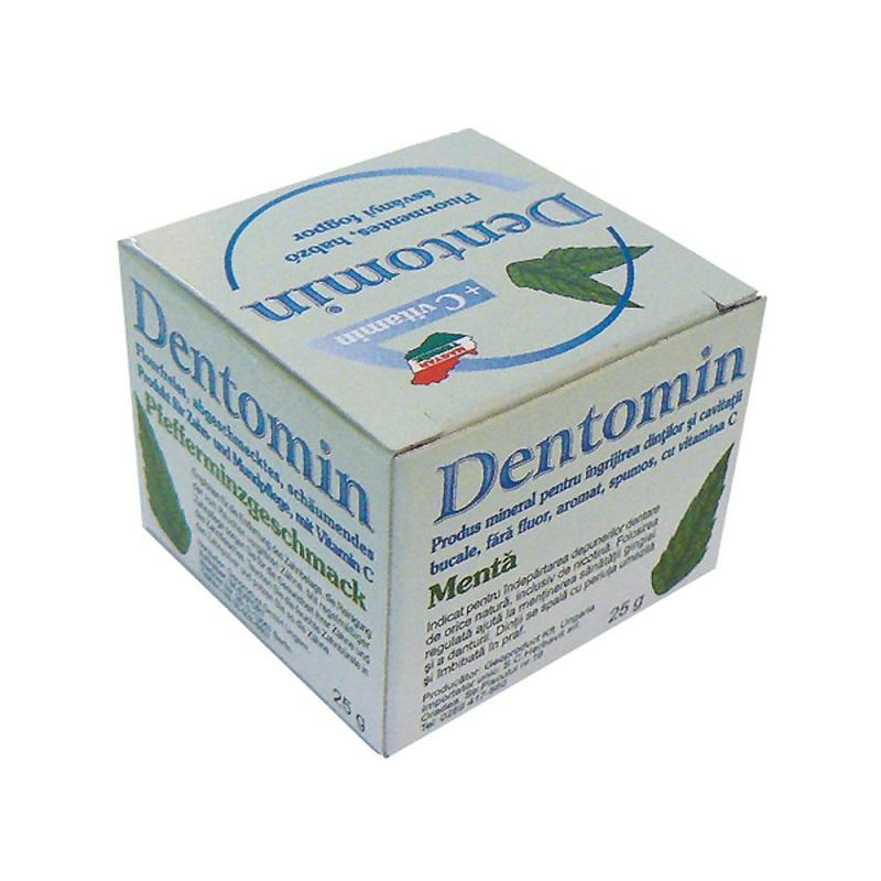 Praf de dinți cu mentă Dentomin H, 25 g, Mer-co