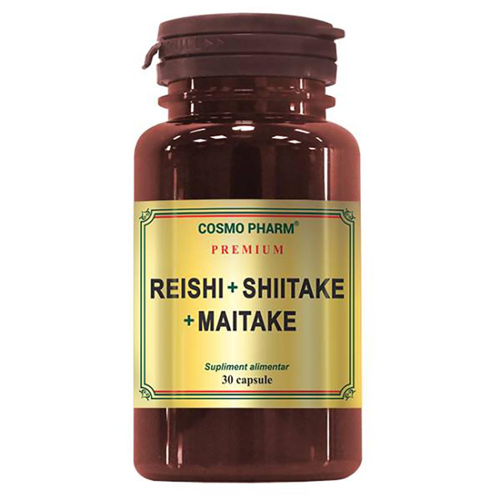 Premium Reishi Shitake Maitake, 30 capsule, Cosmopharm