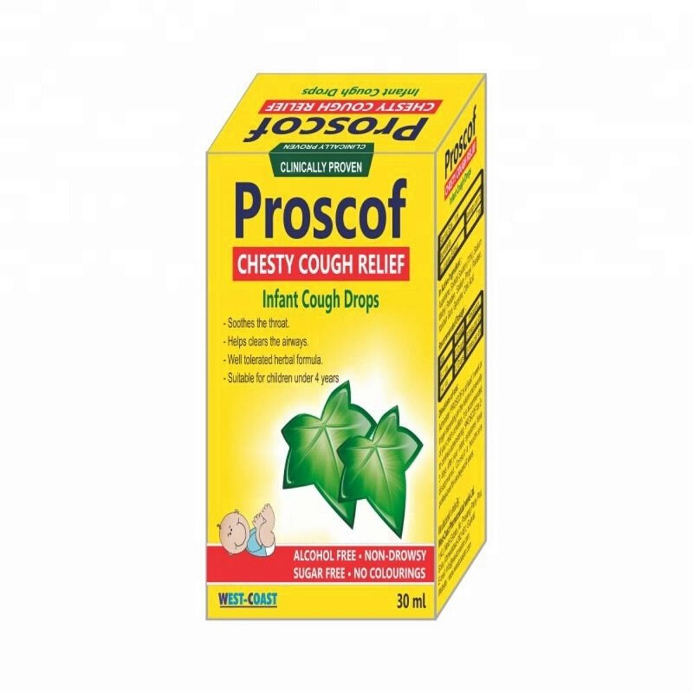 Proscof picaturi pentru tuse cu extract de iedera pentru nou-nascut, 30 ml, EsVida Pharma