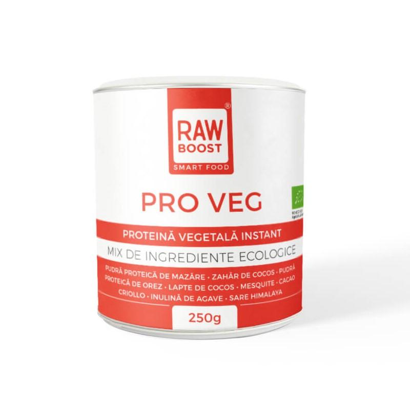 Proteina vegetala ecologica Pro Veg, 250 g, Rawboost Smart Food