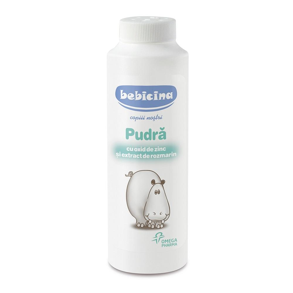 Pudră cu oxid de zinc și rozmarin, Bebicina, 75 g, Omega Pharma