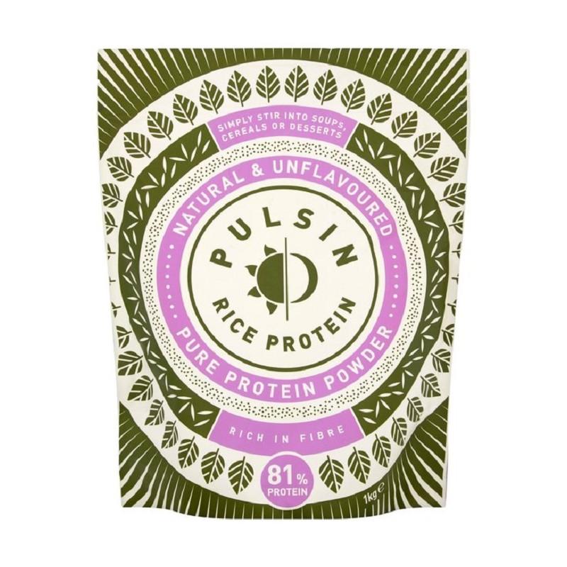 Pudră proteică Raw premium din orez încolțit 80% proteine, 250 g, Pulsin