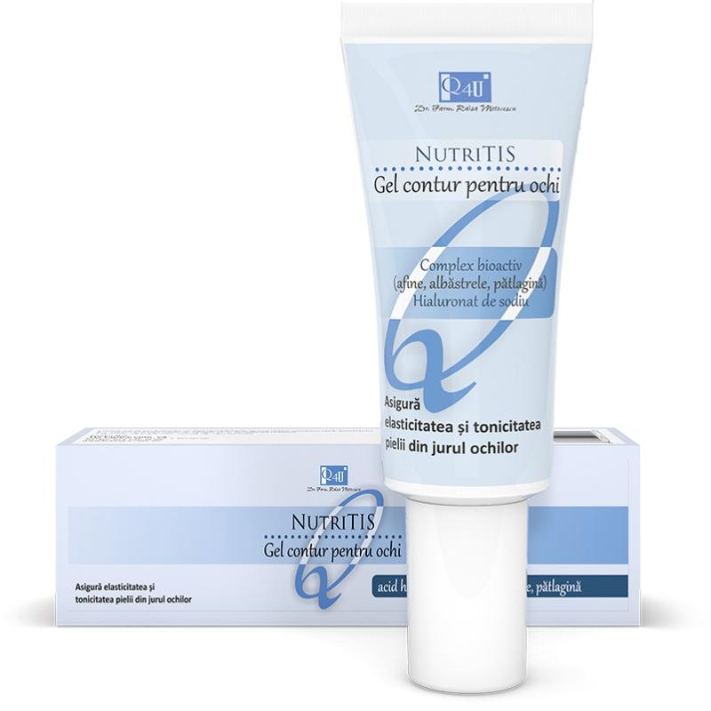 Gel contur pentru ochi NutriTis Q4U, 20 ml, Tis Farmaceutic