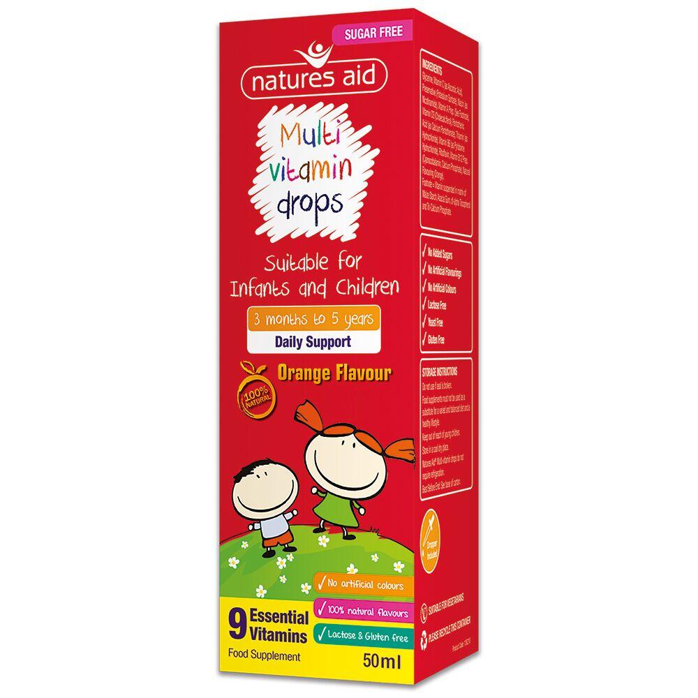 Multivitamine picături pentru copii, 50 ml, Natures Aid