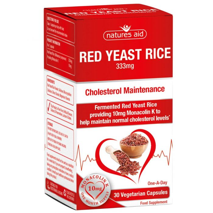 Red Yeast Rice 333 mg, 30 capsule, Natures Aid