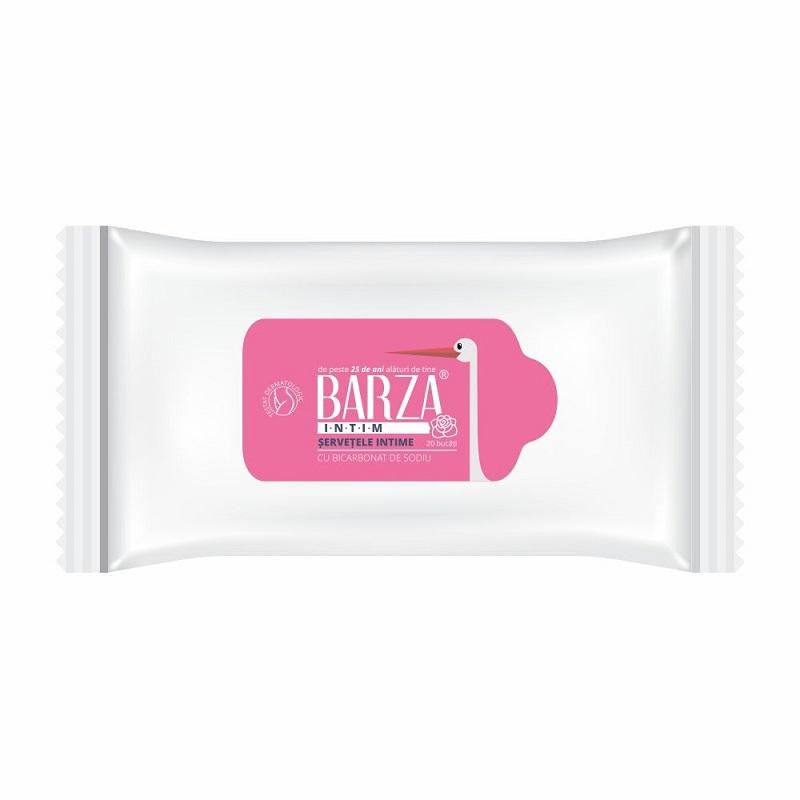 Șervetele intime cu bicarbonat de sodiu Barza, 20 bucăți, Biotech Atlantic USA