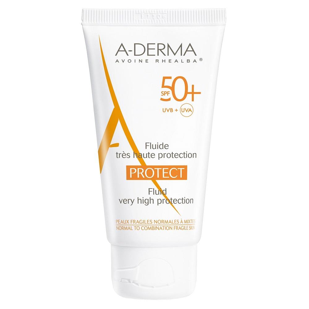 Fluid pentru protectie solara cu SPF 50+, 40 ml, A-Derma Protect